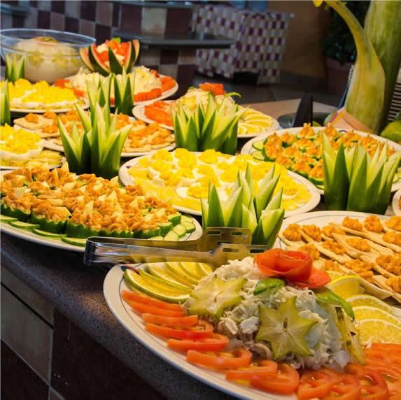 buffet restaurant salad table