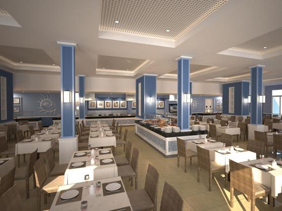 Interior del restaurante del hotel