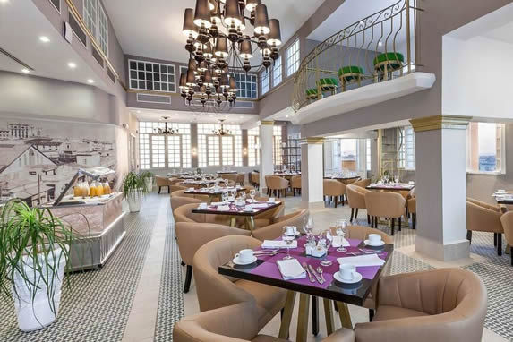buffet restaurant with upholstered furniture