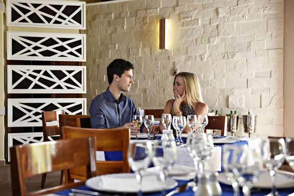 tourists enjoying their dinner at the restaurant