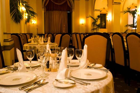 Restaurant at the hotel Nacional de Cuba
