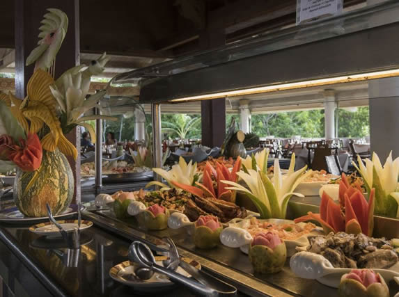 buffet restaurant food table