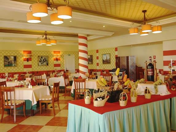 A la carte restaurant in the hotel