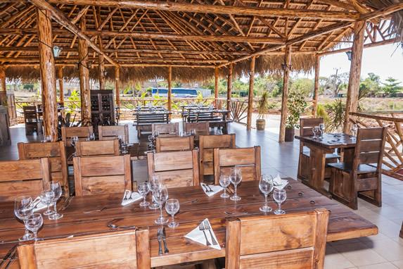 guano indoor restaurant with wooden furniture
