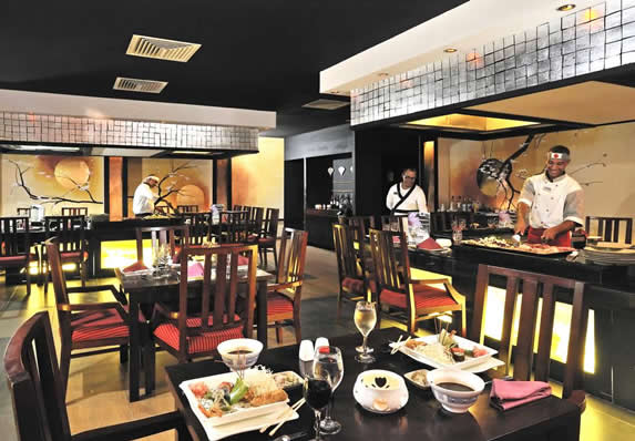 restaurant with asian decoration