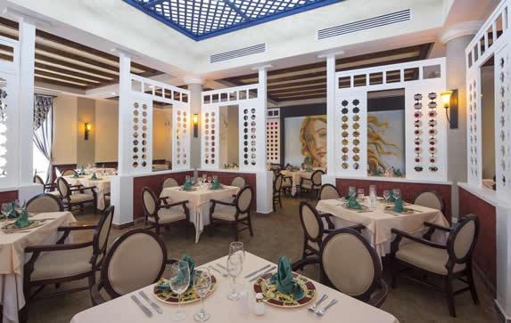 elegant restaurant with table linen