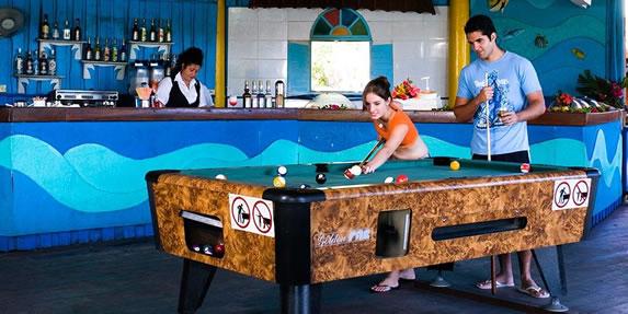 Billiard room in the hotel