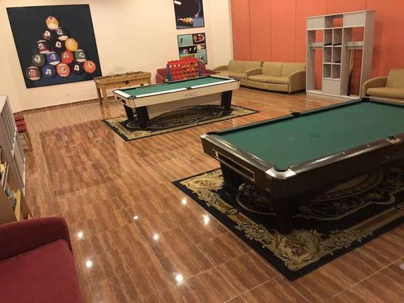 Sala de billar en el hotel