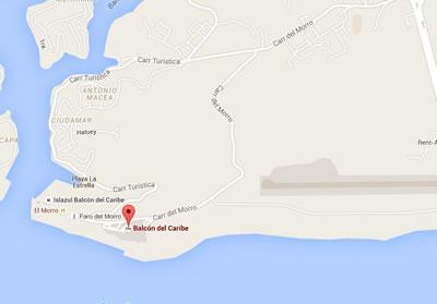 Cabaret San Pedro Mar.Sgo de uba, Cuba,map