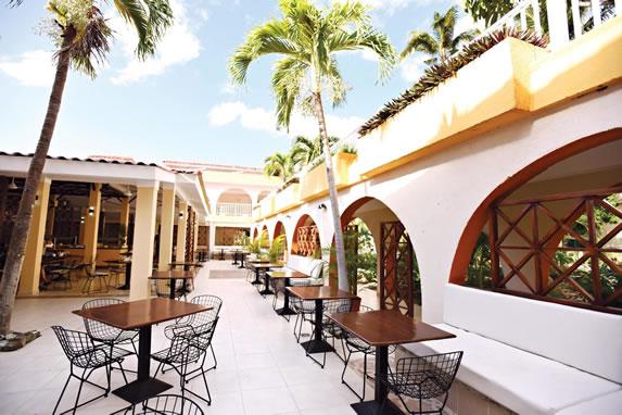 Outdoor hotel restaurant