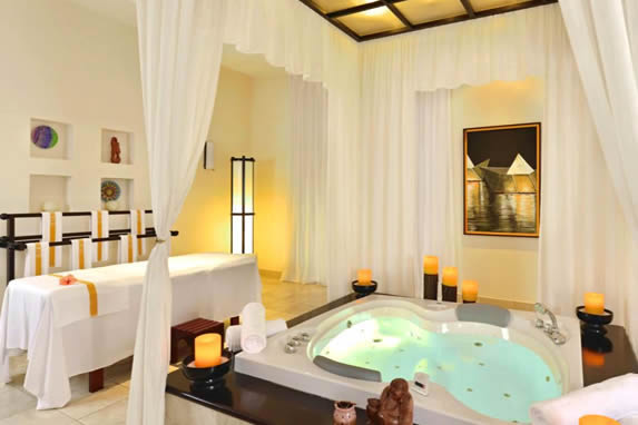 SPA with Jacuzzi and massage table