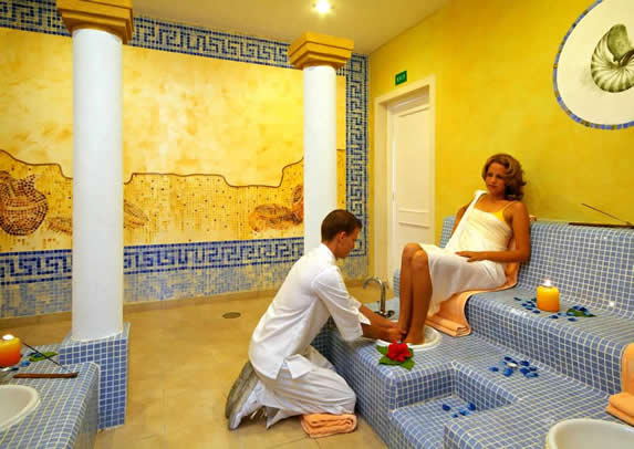 tourist receiving a massage in the SPA