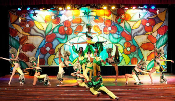 colorful stage with dancers