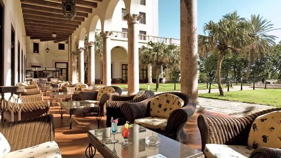 Terrace of the hotel Nacional de Cuba