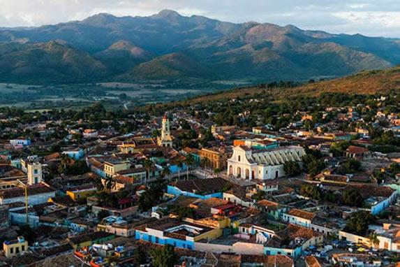 Aerial view of the city of Sancti Spiritus