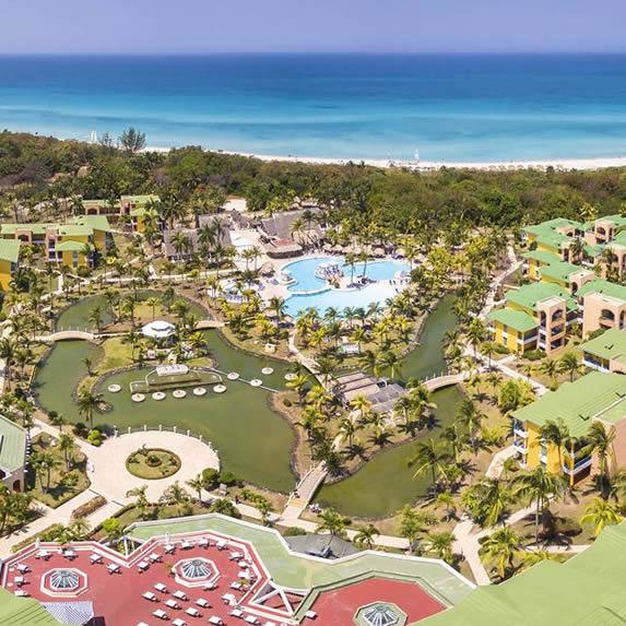 Aerial view of the Melia Las Antillas hotel