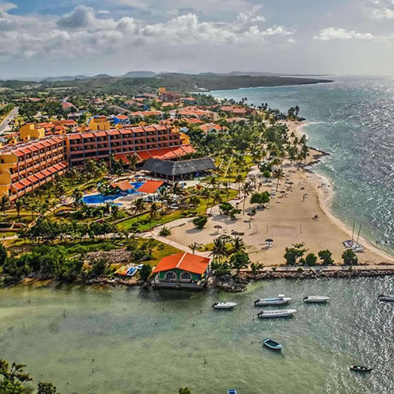Aerial view of the Brisas del Caribe hotel