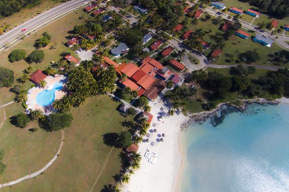 aerial view of the hotel playa larga