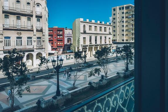 Vista desde la habitación a Paseo del Prado