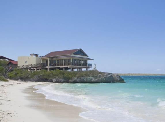 hotel facade seen from the sea