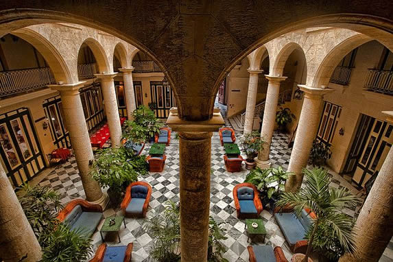Aerial view of the inner courtyard