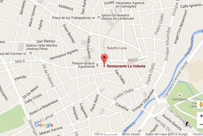 Restaurante La Volanta, Camaguey, Cuba,mapa