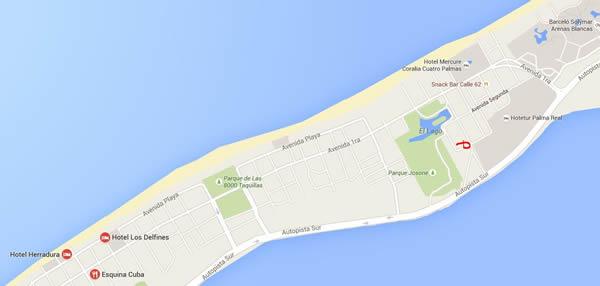 Restaurante Waco Club, Varadero, Cuba,mapa